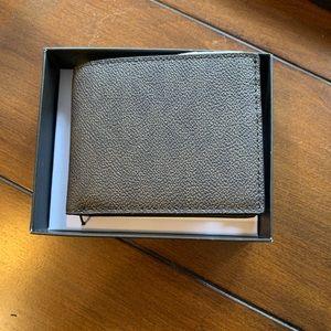 NWT Men's Michael Kors Brown logo Leather wallet